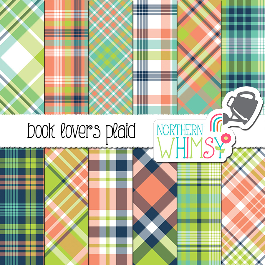 Check out this Coral Navy and Lime Plaid Digital Paper! It coordinates with our Book Lovers Digital Paper set. This package includes twelve digital papers with plaid patterns in coral, navy blue, aqua blue, and lime green.
