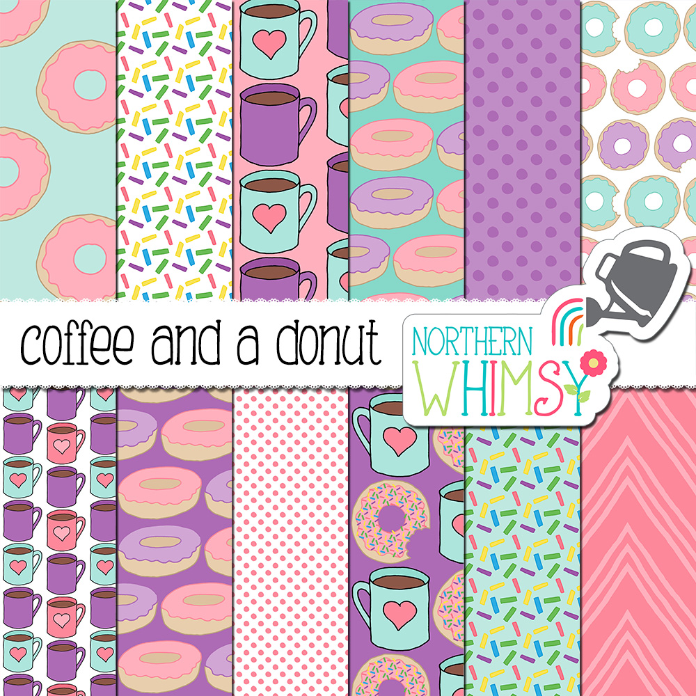 Donuts digital paper