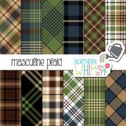 masculine plaid patterns