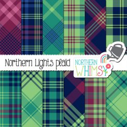 Winter Plaid Digital Patterns