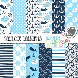 Navy and Aqua Nautical Graphics