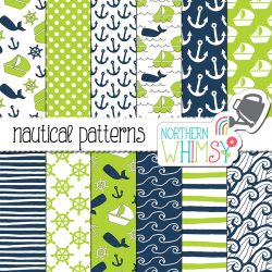 Navy and Lime Nautical Designs