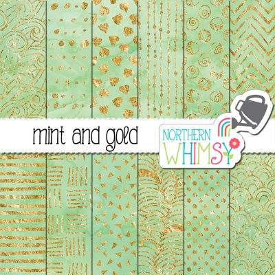 Mint Green Watercolor Scrapbook Paper Northern Whimsy Design