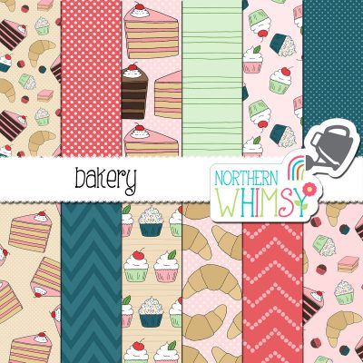 a sales image of our Bakery Digital Paper set