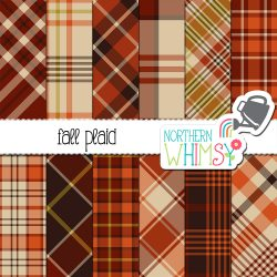 Here is a retro fall plaid printable paper set in brown and orange. Use it for personal projects, or contact us for an extended license!
