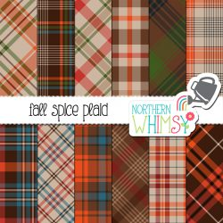 Check out this package of brown and orange fall plaid digital papers! Use them for personal or small commercial projects, or request an extended license.