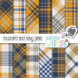 Our mustard and navy plaid patterns are perfect for Father's Day projects or scrapbooking sports photos. This is an instant download, so no need to wait!