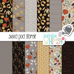 an image of our Fall Seamless Patterns - Seed Pods digital paper set for sale.