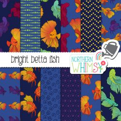 a sales image of our Bright Betta Fish Digital Paper