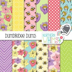 An image of the Bumblebee Bums seamless pattern set