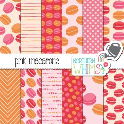 a sales image of our Pink Macaron Digital Paper