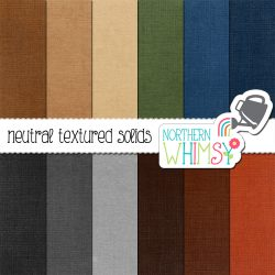 an image of the Neutral Textured Solids digital paper set
