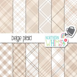 an image of our Beige Seamless Diagonal Plaid Digital Paper