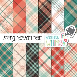 a picture of our Spring Seamless Diagonal Plaid Digital Paper set