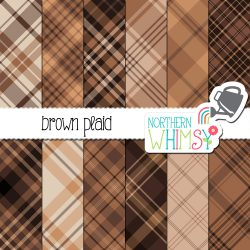 an image of the Brown Seamless Diagonal Plaid digital paper set by Northern Whimsy.